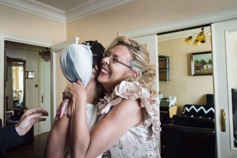 abrazo pamplona preparativos boda novia