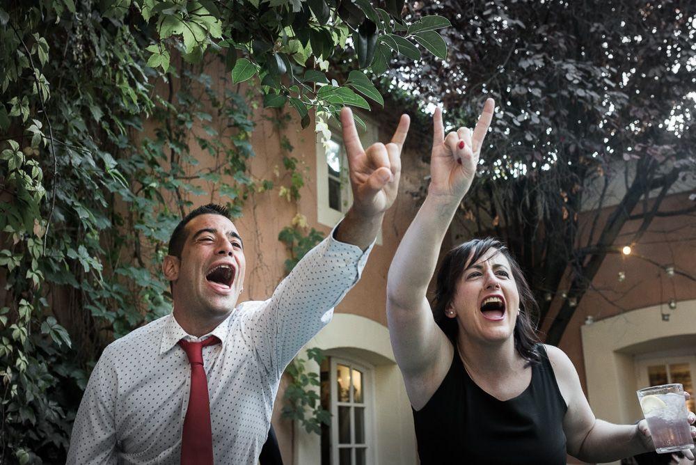 heavy metal boda en restaurante villamarcilla