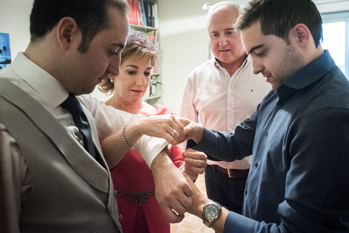 preparativos de boda casa novio en pamplona