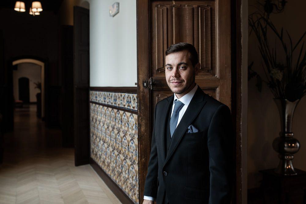 boda en palacio de la vega Marisol retrato