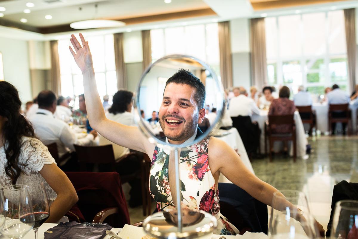 fotografo de bodas en navarra espejo ensamblaje