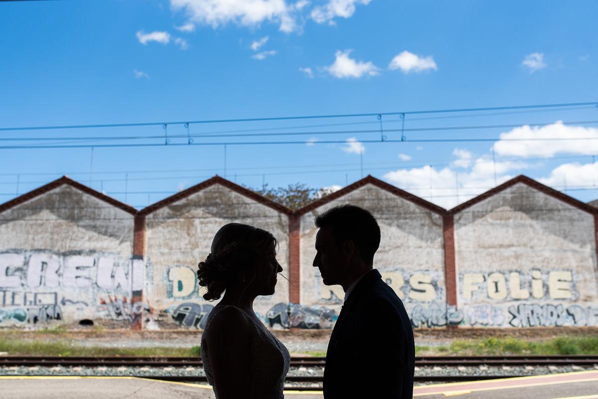 fotografo de bodas en navarra novios cara a cara