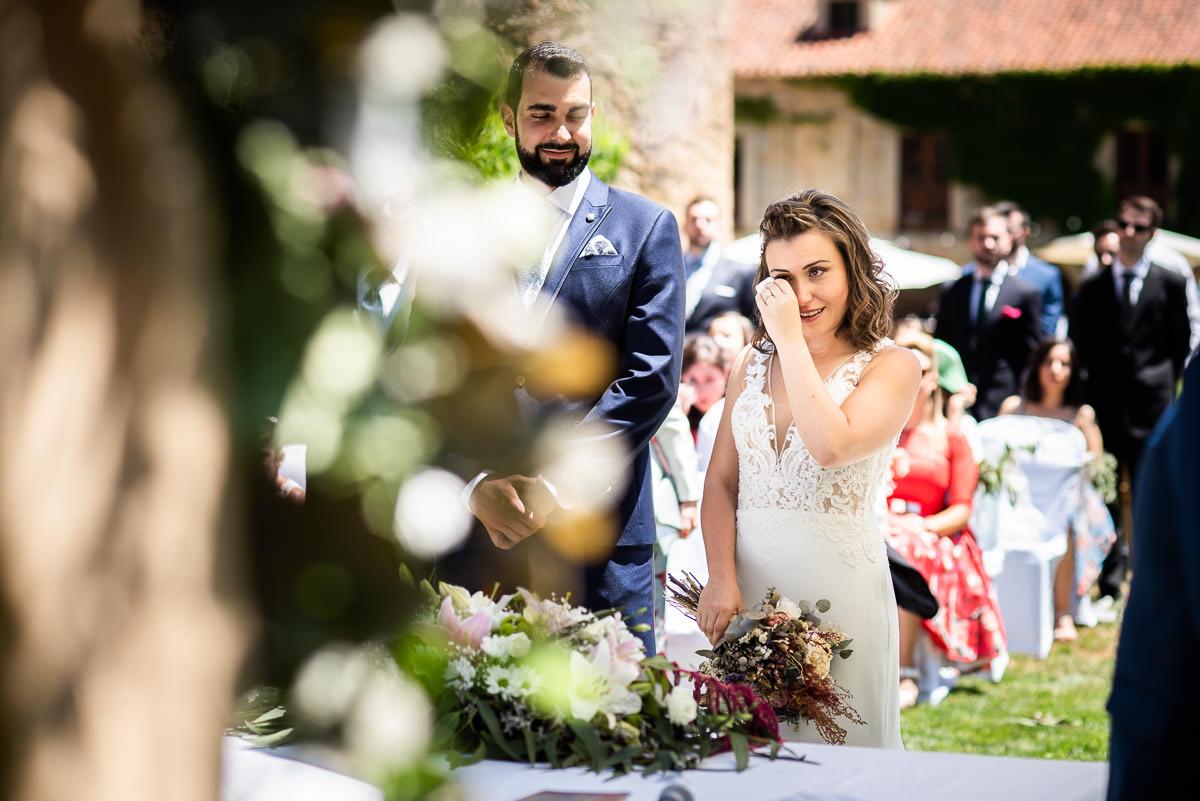 la novia llora en Casa fuerte san gregorio