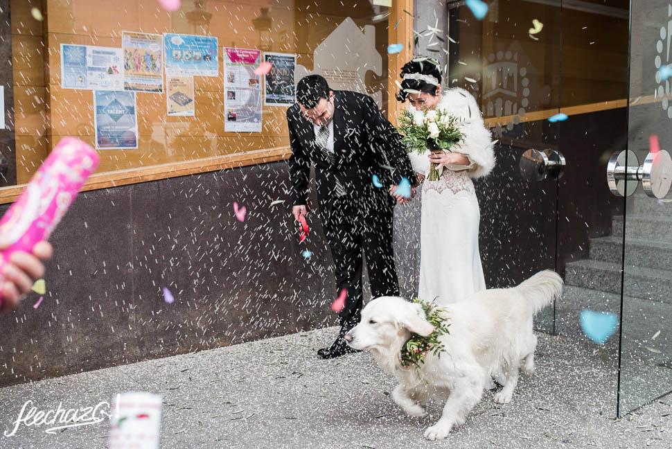 flechazo salida de la ceremonia de bodas