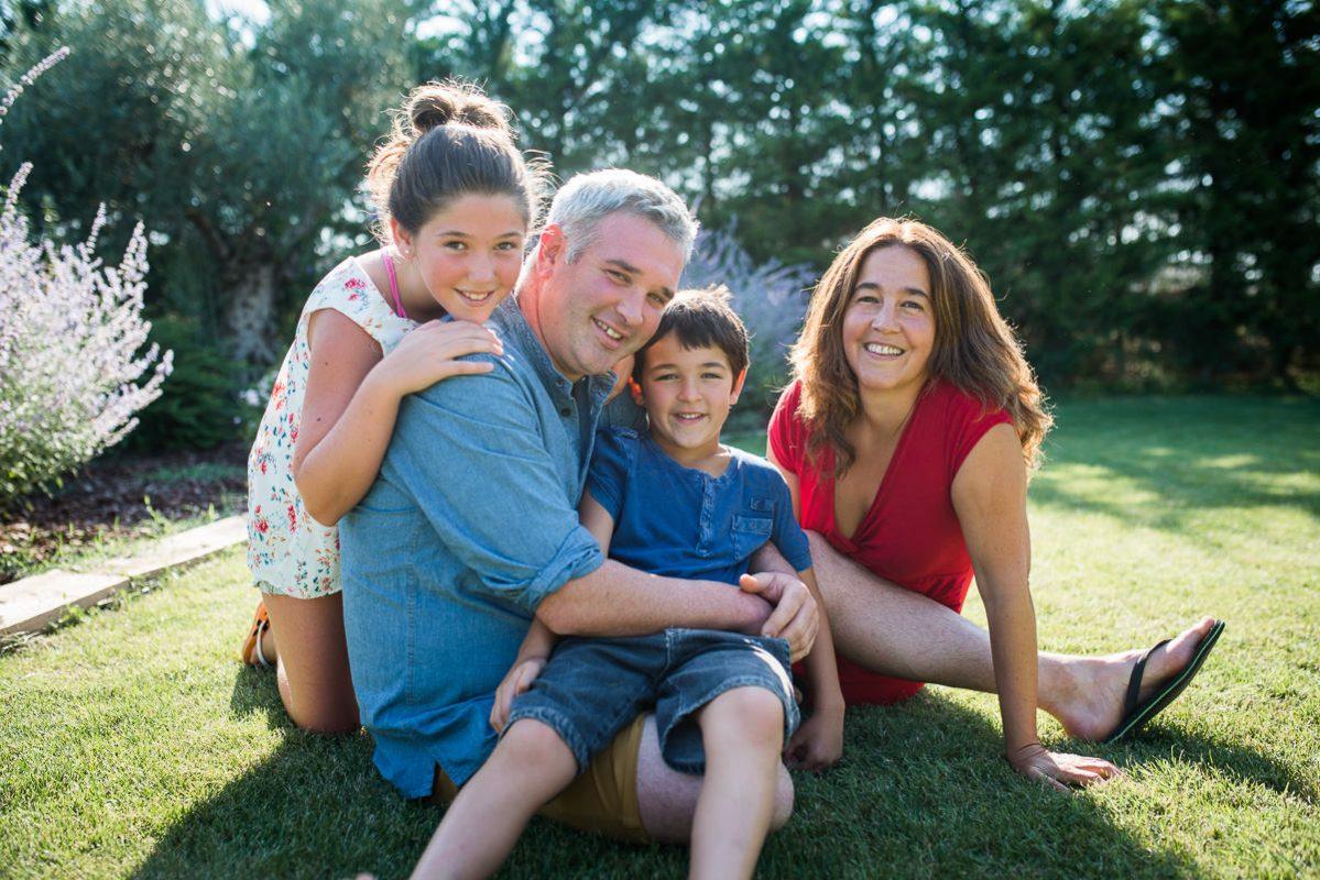 foto clásica de familia en peralta